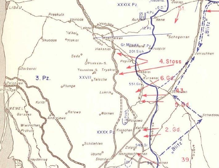 Padėties schema. 1944.10.20